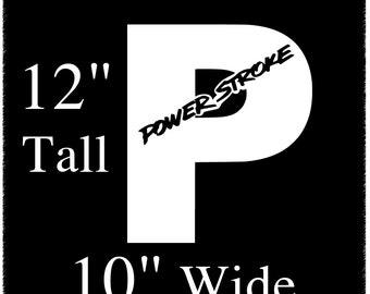 Powerstroke 12 inch Decal Sticker