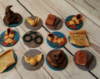 harry potter cupcake toppers x 12