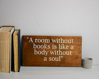 Book Nook sign, Library sign, Book Station, Reading Nook decor