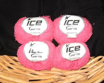 Yarn - ICE Boreal Cotton Yarn - Hot Pink Color!