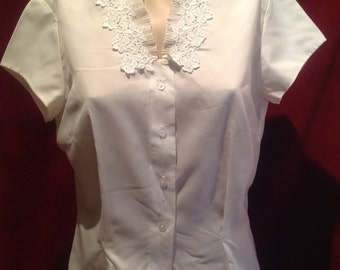 1940s Ladies Blouse / Label St Michaels