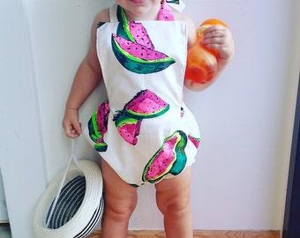 Watermelon Sunsuit Romper