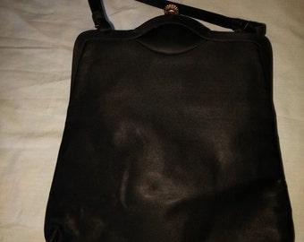Vintage Black Satin evening bag