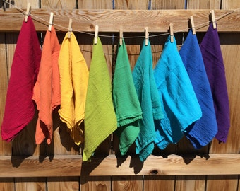 Hand Dyed Burp Clothes