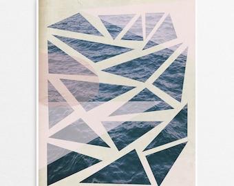 Triangle Ocean Print