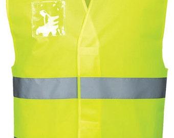 ID Badge Holder For Hi Viz High Visibility Vest