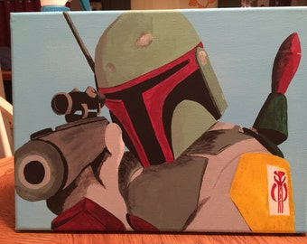 Boba Fett painting on canvas