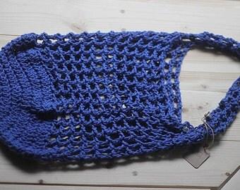 Farmer's Market Bag, Crochet bag, Crochet Market Bag, Market Bag, Navy bag ***Ready To Ship***