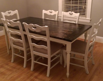 Antique White Farmhouse Dining Table