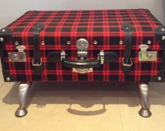 Retro suitcase storage chest.