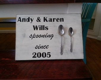Spooning Since Pallet Wood Sign
