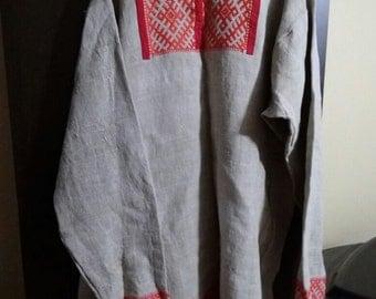 Russian traditional shirt. Replica of XIX century. Bryansk region