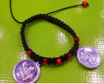 """Hand-woven bracelet """"Ganesha&Hanuman"""""""