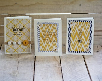 Yellow Zig Zag Bible Verse Cards