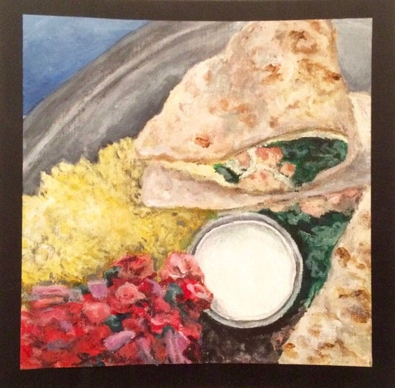 Original Acrylic Food Painting Mexican Food by PricePaint ...