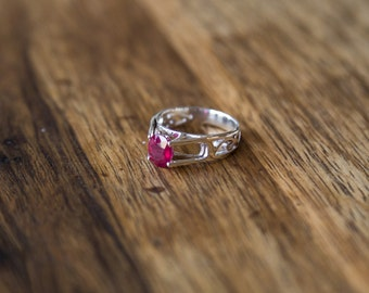 Ring Ruby and Silver 925
