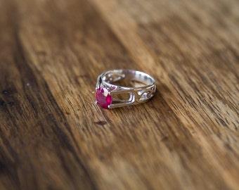 Ruby ring Silver 925
