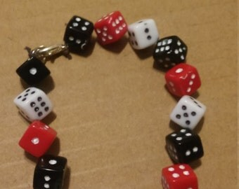 Dice bracelet and earring set