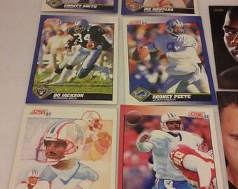 1991 Score NFL Dream Team Autographed Cards, Plus 250+ additional NFL cards