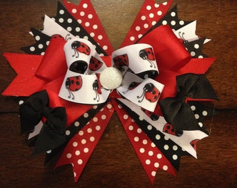 Big boutique ladybug bow