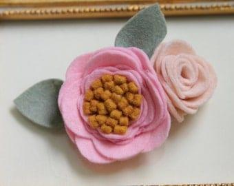 CELINA Felt flower headband    Flower headband    Nylon headband    Baby headband    One size fits all (baby - adult)    bowemmgee