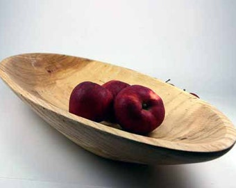 Old Fashion Dough or Biscuit Bowl / Red Oak