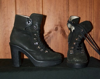 gothic heeled ankle boots size 7