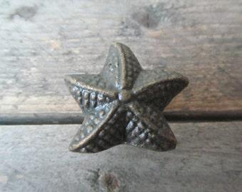 Starfish Draw Knob, Seaside Drawer Pull, Cupboard Knob, Drawer Handle