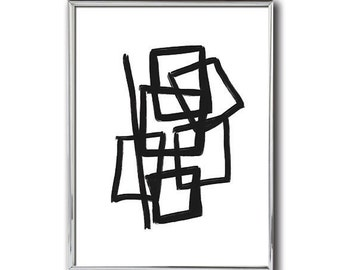 Black and White Print | Abstract Art | #8 | Minimalist Art | Modern Abstract Print