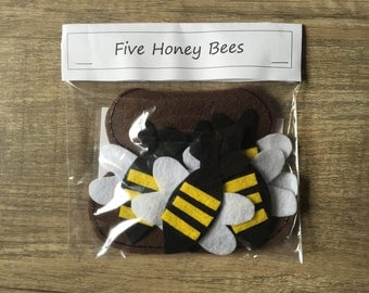 Five Honey Bees