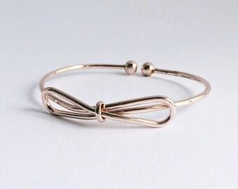 Bracelet loop ROSÉGOLD, bracelet filigree rosé, adjustable bracelet with loop in rose gold