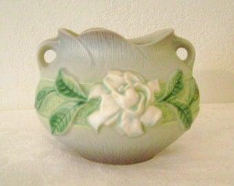 Roseville Pottery Gardenia Bowl 2 Handles 641-5 Excellent Condition