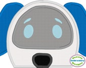 Paw Patrol RoboDog Peeker Applique - Machine Embroidery Design
