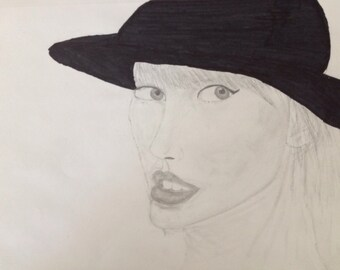 Taylor Swift - 9 in X 12 in Drawing