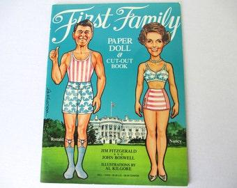 First Family Paper Dolls 1981, President Reagan, Paper Dolls, Vintage Paper Dolls