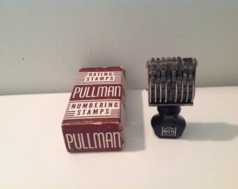 Vintage Pullman Date & Number Stamp