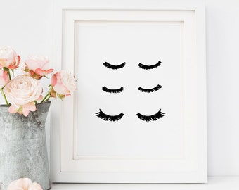 Wall art Prints, Eyelashes Print, Art Print, Sassy Wall Art, Makeup Print, Eyelashes, Wall art print, Makeup Art, Mascara Art