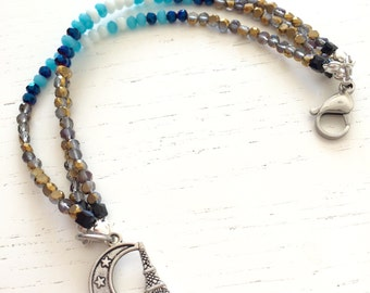Three-wire bracelet moon