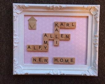 Scrabble Picture Frames 10x8