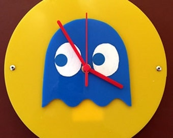 Pacman Ghost themed clock