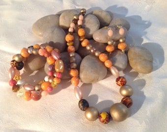 Trio of necklace, bracelet & earrings