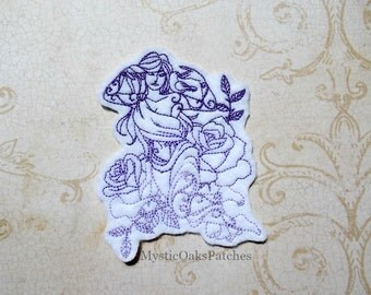 Aphrodite, Greek Goddess of Love and Beauty, Embroidered Felt Patch