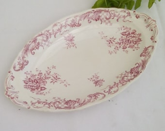 Vintage Villeroy and Boch oval shallow dish.