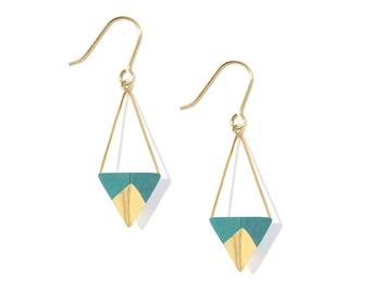 Koroko earrings - Emerald
