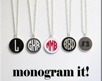 Vinyl Monogram Pendant