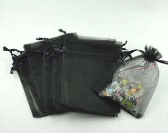 Silver or Black Extra Large Organza Gift Bag 8 x 10