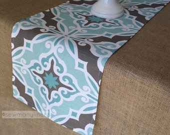 Captivating Aqua Turquoise Blue Table Runner Spa Blue Table Centerpiece Home Decor  Dining Table Kitchen Linens Party