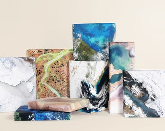 Landscapes from Space Wrapping Paper ; Landscape ; Wrapping Paper ; Gift Wrap