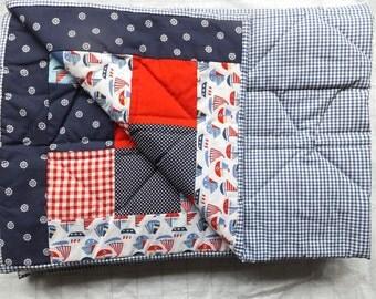 Sale - Nautical single Patchwork Quilt
