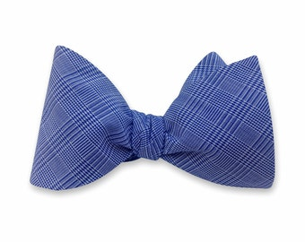 Gingham Bow tie, Mens Bow tie, Husband Gift